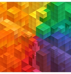 Abstract mosaic background from cubes vector