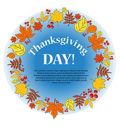 background Autumn Thanksgiving vector image