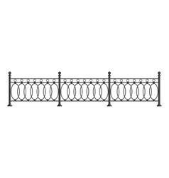 Black forged lattice fence vector image