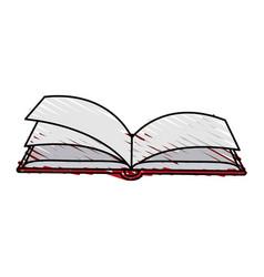Color crayon stripe image cartoon top view book vector