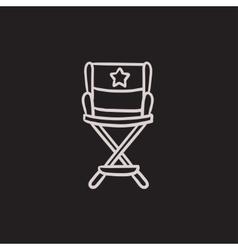 Director chair sketch icon vector image