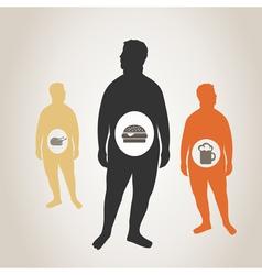 Fat man3 vector image