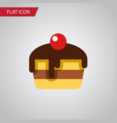 isolated pastry flat icon dessert element vector image vector image