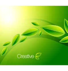 nature creative background vector image