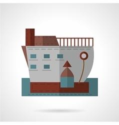 Passenger ship flat icon vector image vector image