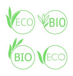 100 organic emblem vector image
