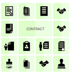14 contract icons vector