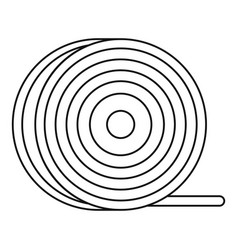 Abs or pla filament coil icon outline vector