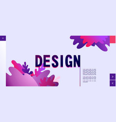 Abstract homepage design template futuristic vector
