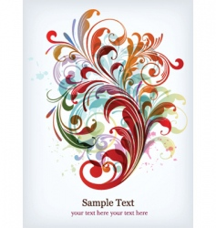 abstract poster vector image