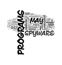 adware free removal scan spyware text word cloud vector image