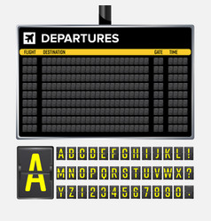 Airport board vector