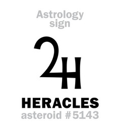 astrology asteroid heracles hercules vector image