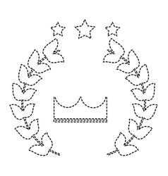 Award crown wreath laurel honor sport vector