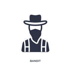 Bandit icon on white background simple element vector