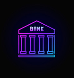 Bank colorful line icon vector