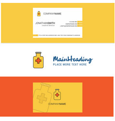 beautiful medicine jar logo and business card vector image