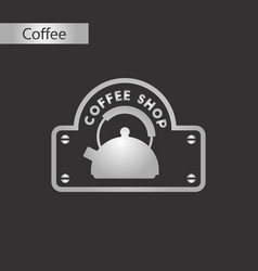 black and white style icon of coffee shop logo vector image