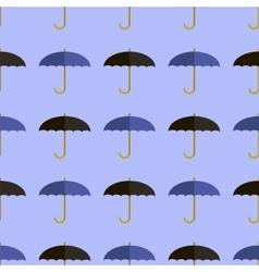 Black Blue Umbrella Seamless Pattern vector image