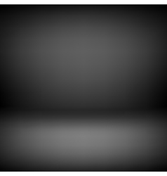 Black empty studio background vector