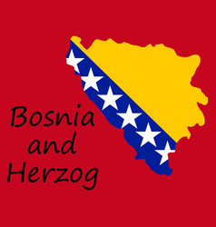 Bosnia and herzegovina political map with capital vector