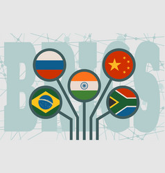 Brics economic union vector