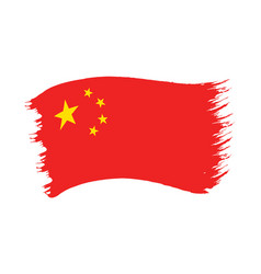brushstroke painted flag china vector image