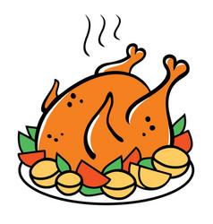 Chicken dinner vector