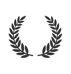 circular laurel foliate icon film festival award vector image