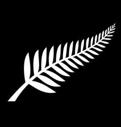 Classic silver fern new zealand emblem vector