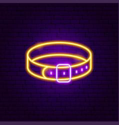 collar neon sign vector image