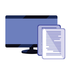 Computer monitor document data vector