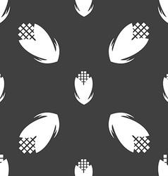 Corn icon sign Seamless pattern on a gray vector image