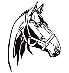 Decorative horse 3 vector