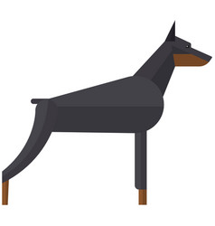 Doberman pinchers angry security dog vector