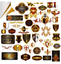 elegant vintage designs set for luxury labels vector image