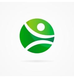 fitness design logo vector image