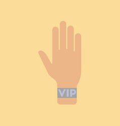 Flat icon stylish background poker hand vip vector