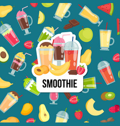 flat smoothie with place for text vector image