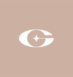 g star letter mark initial logo icon vector image