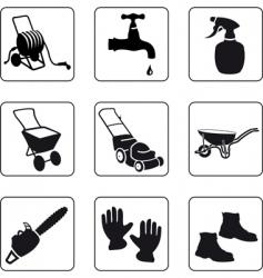garden equipment vector image