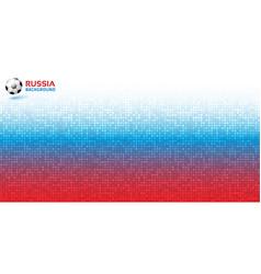 gradient pixel background russia 2018 flag soccer vector image