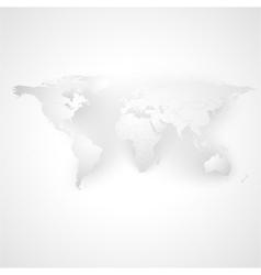 Gray Political World Map vector