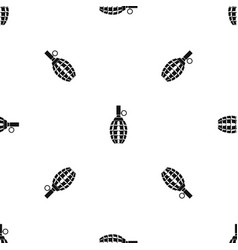 Grenade pattern seamless black vector