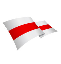 historical flag belarus and a symbol protest vector image