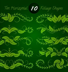 Horizontal foliage vector