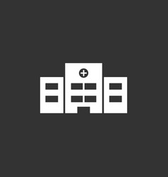 Hospital icon on a black background vector