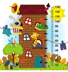 house height measure original proportions 1 to 4 vector image