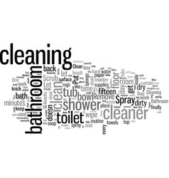 How to clean your bathroom in minutes vector