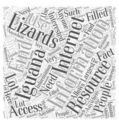 Iguana lizards word cloud concept vector